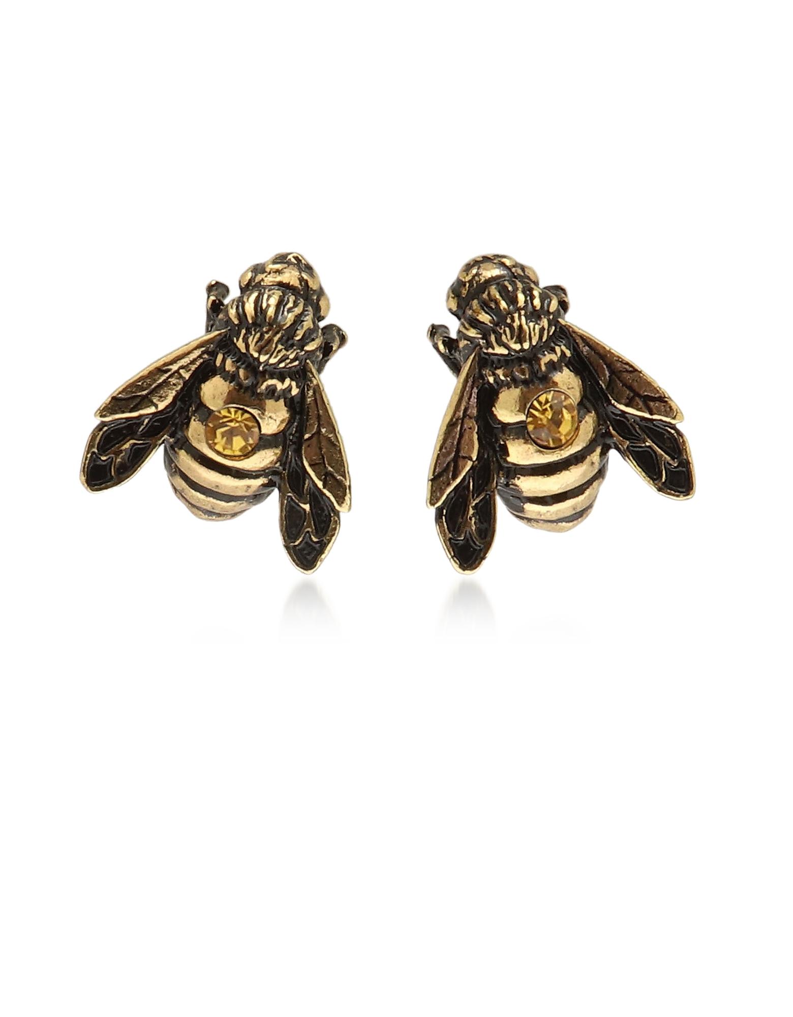Forzieri coupon: Alcozer & J  Earrings Golden Brass Apis Florea Earrings