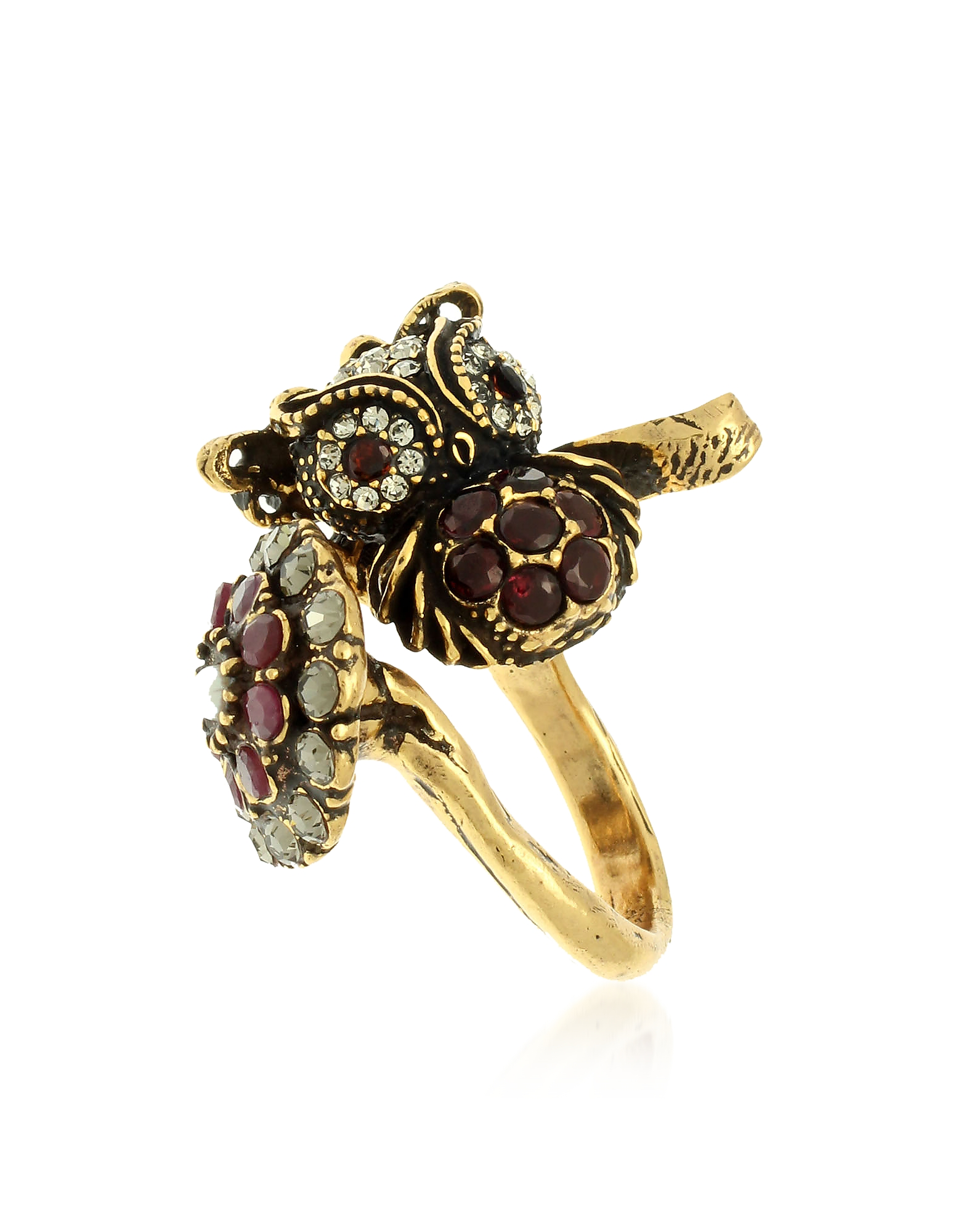 Forzieri coupon: Alcozer & J  Rings Owl Flower and Butterfly Ring