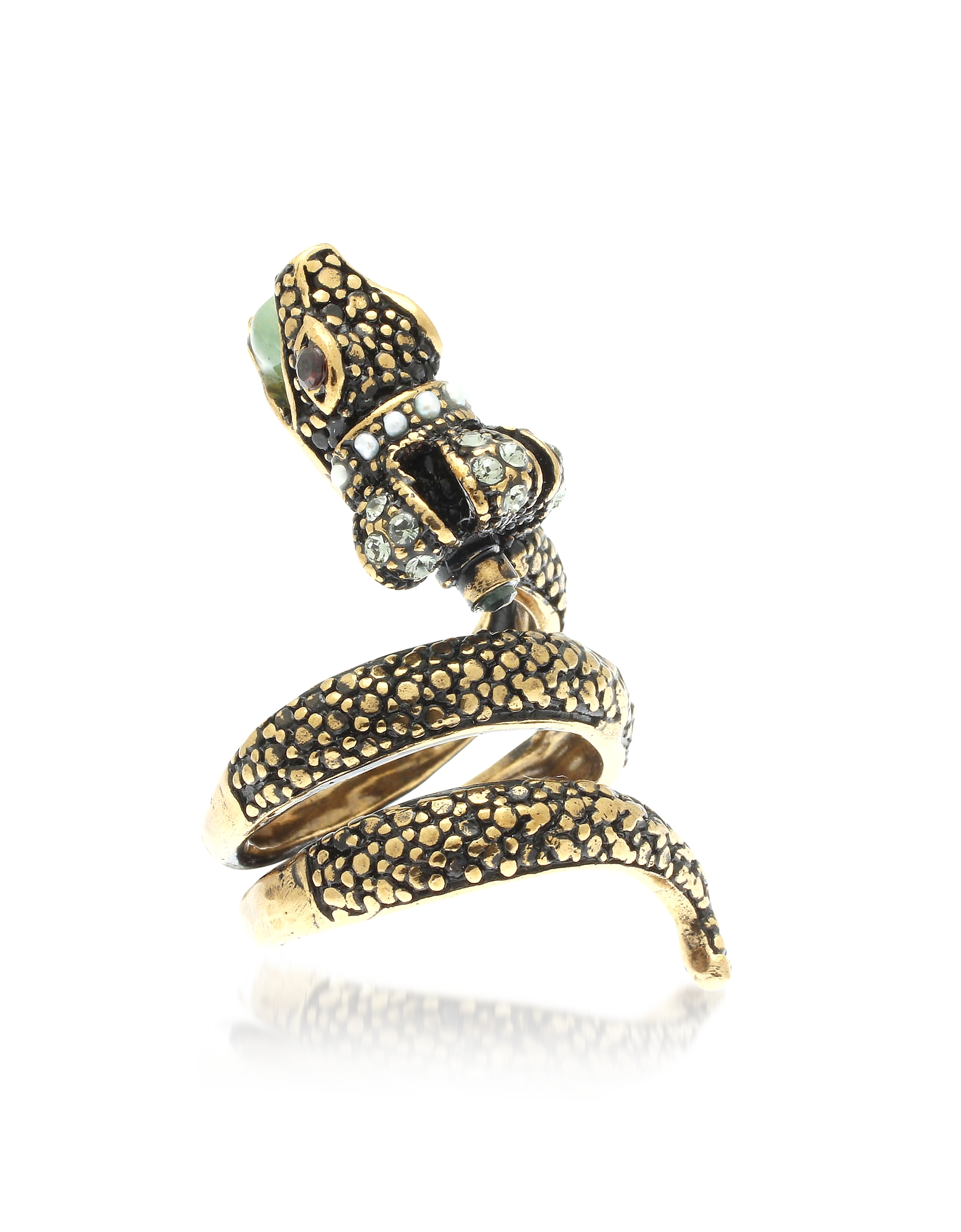 Forzieri coupon: Alcozer & J  Rings Crowned Snake Ring