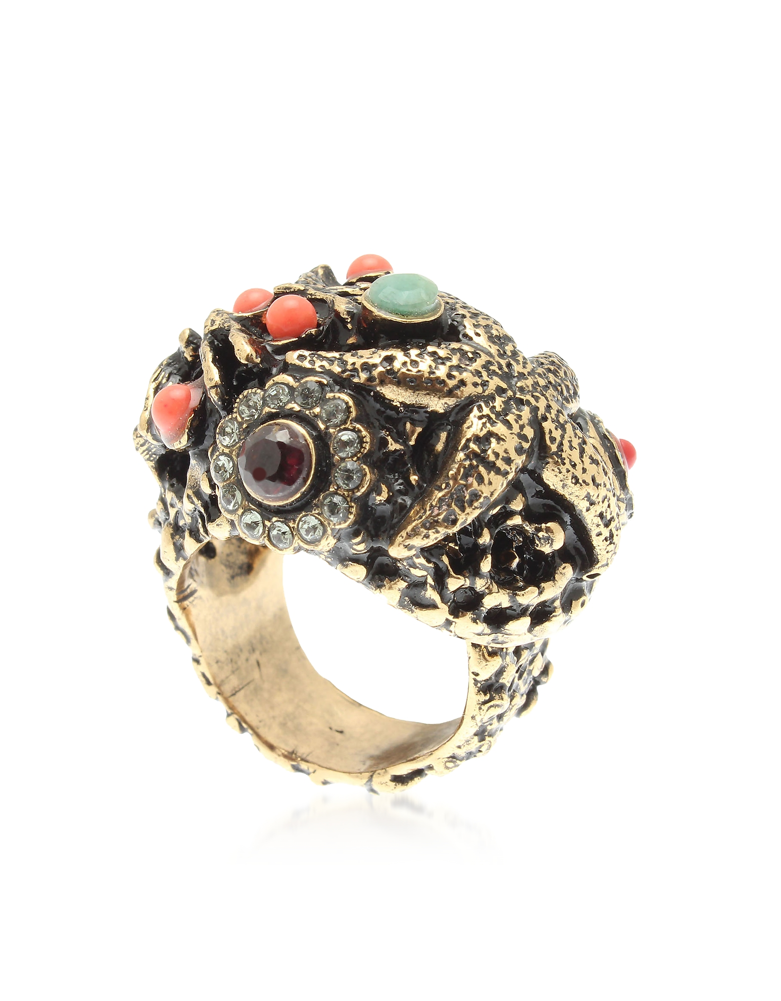 Forzieri coupon: Alcozer & J  Rings Starfish Corals Tropical flowers Ring