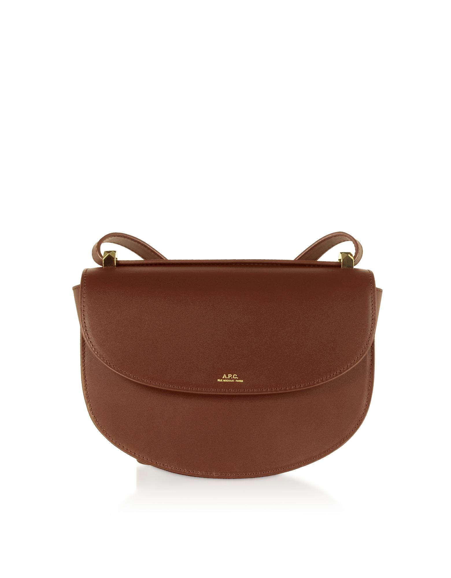 A.P.C. Designer Handbags, Hazel Geneve Leather Crossbody Bag