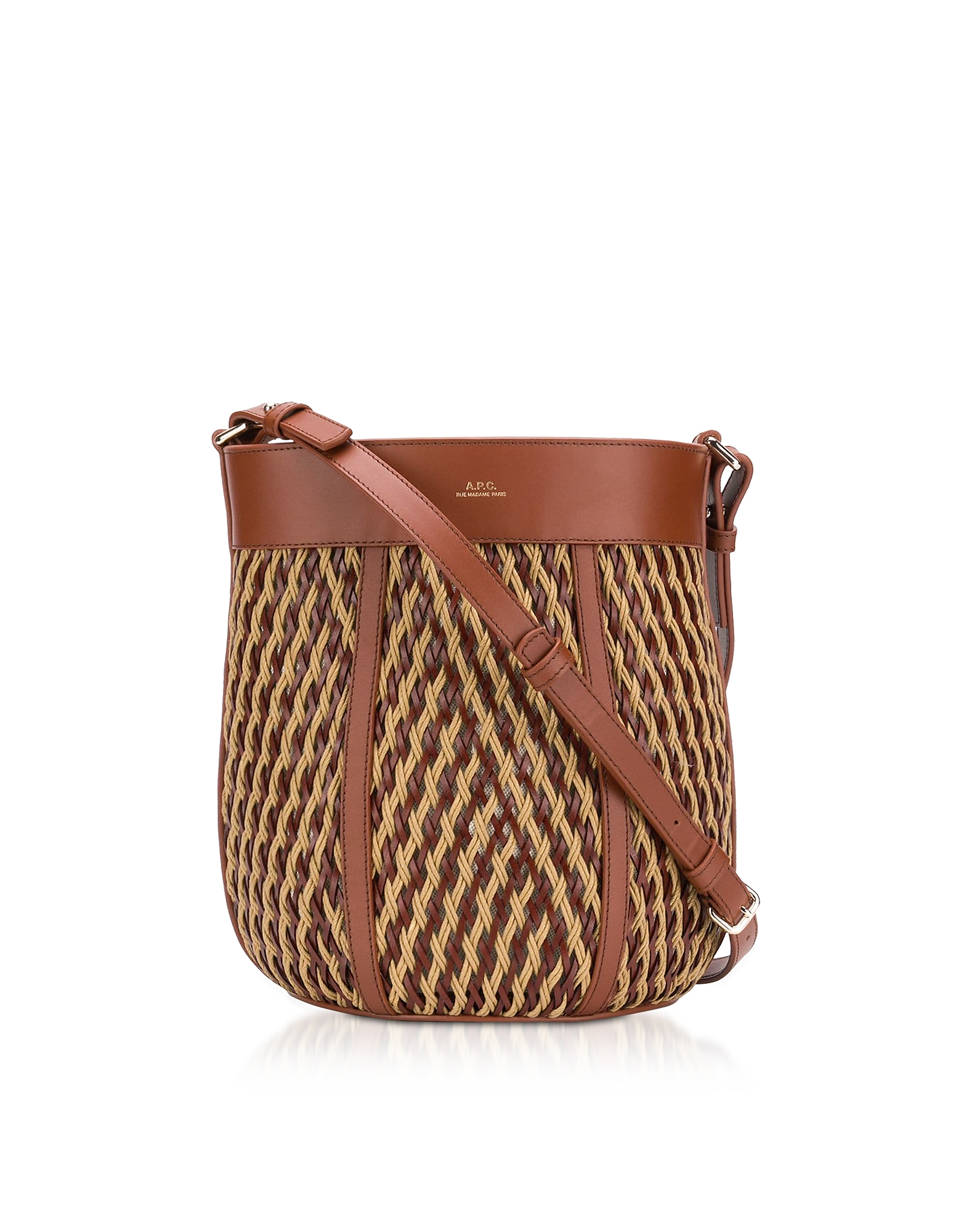 A.P.C. Designer Handbags, Garance Woven Leather Shoulder Bag