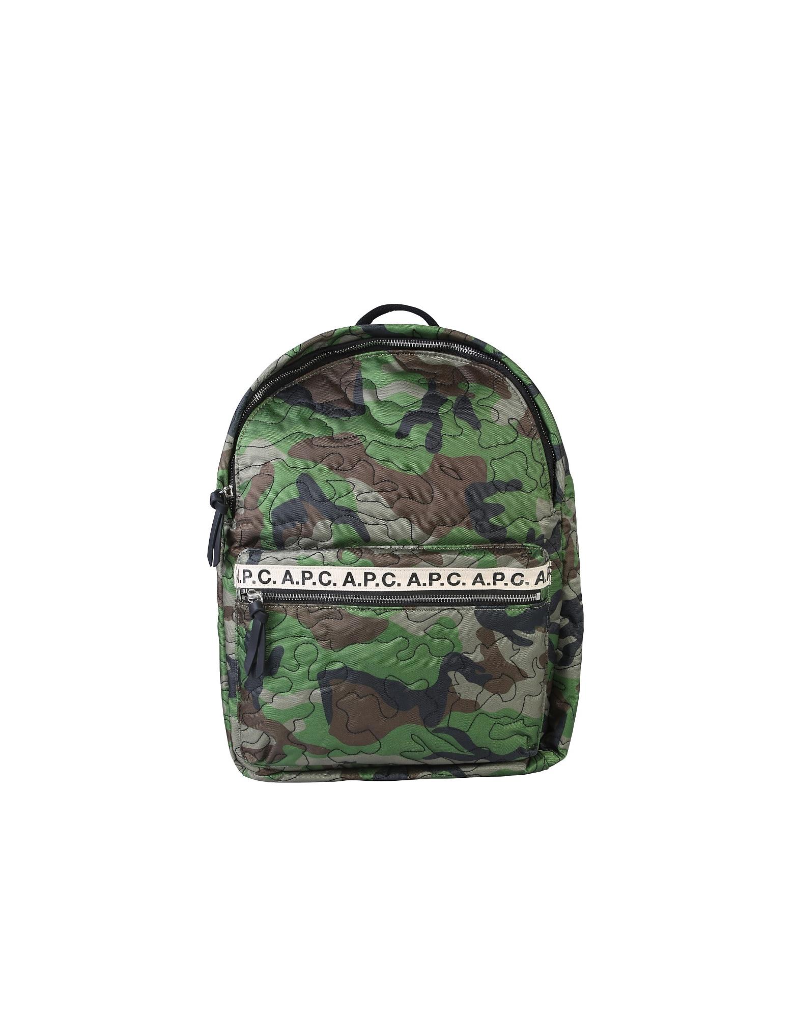 A.P.C. Designer Men's Bags, Backpack With Logo