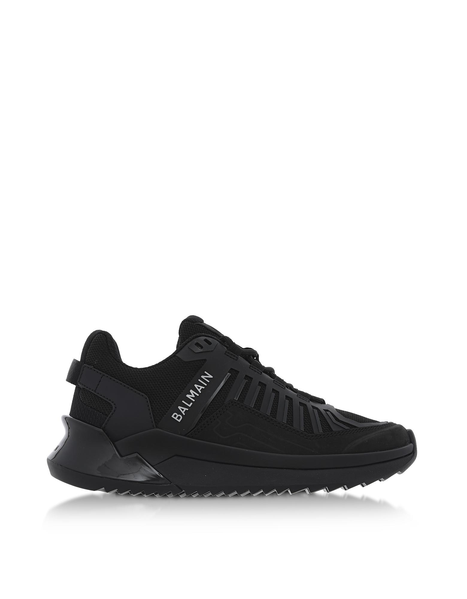 Balmain Designer Shoes, Black Neoprene B-Trail Women's Sneakers