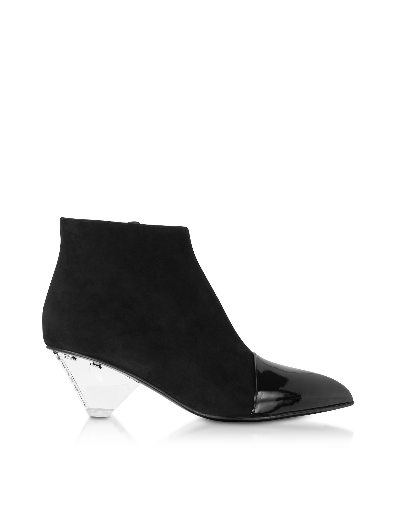 Balmain Designer Shoes, PVC Livy Ankle Boots