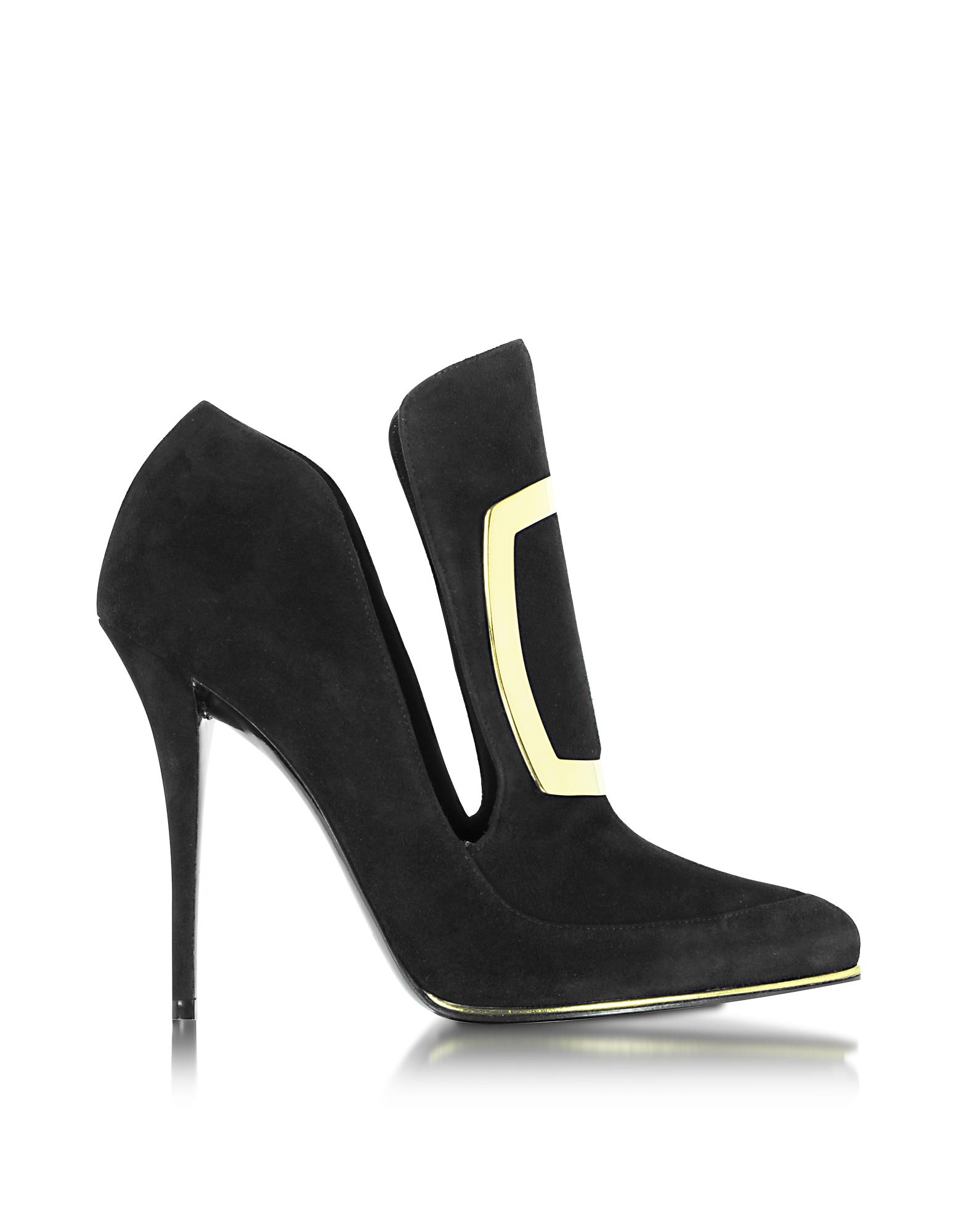 Balmain Designer Shoes, Desiree Black Suede Pump