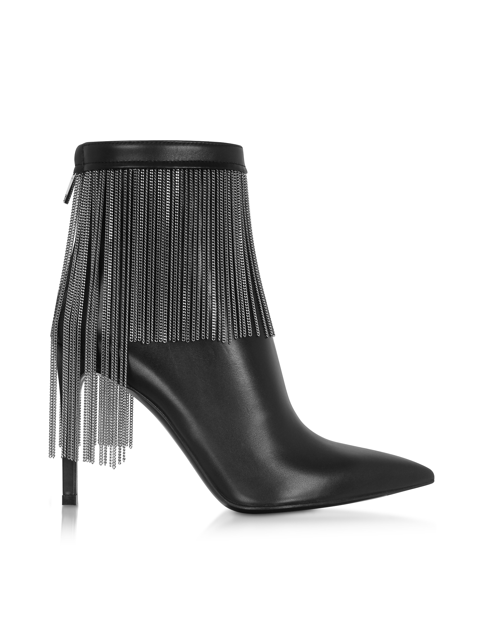 Balmain Designer Shoes, Black Leather & Chains Mercy Boots