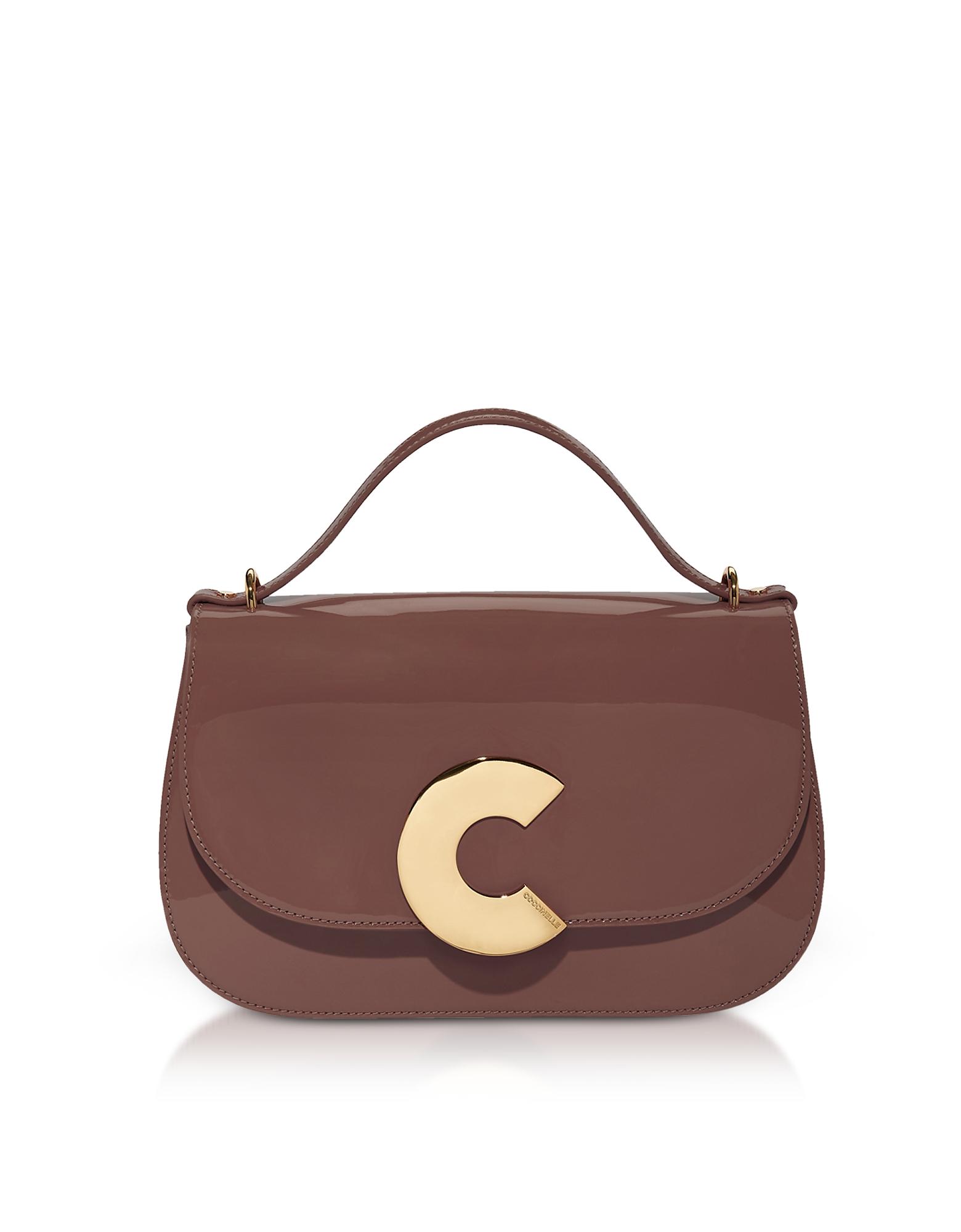 Coccinelle Designer Handbags, Craquante Patent Maxi Leather Satchel Bag