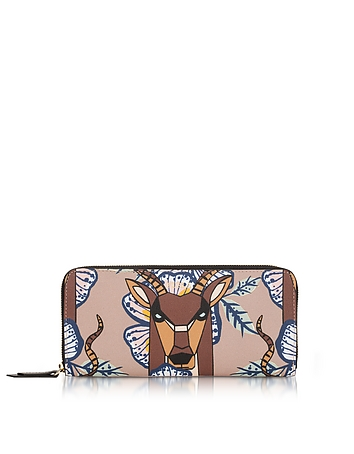 Antilope and Tropicana Gioia XL Zip Around Saffiano Leather Wallet