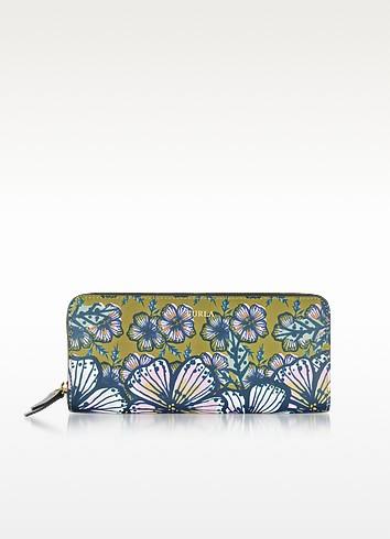 Furla Brughiera And Cocorita Gioia Xl Zip Around Saffiano Leather Wallet In Multicolor