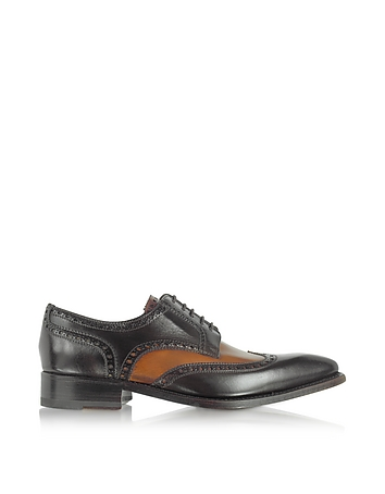 Roaring Twenties Themed Clothing Two-Tone Italian Handcrafted Leather Wingtip Oxford Shoes $554.00 AT vintagedancer.com
