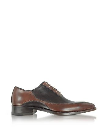 1920s Style Mens Shoes Dark Brown Italian Handcrafted Leather Oxford Shoes $568.00 AT vintagedancer.com