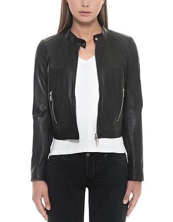 Black Leather Women's Jacket