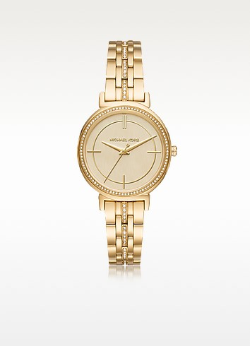 Michael Kors Cinthia Golden Stainless Steel Women's Watch