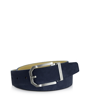 Monterey Navy Blue Suede Belt