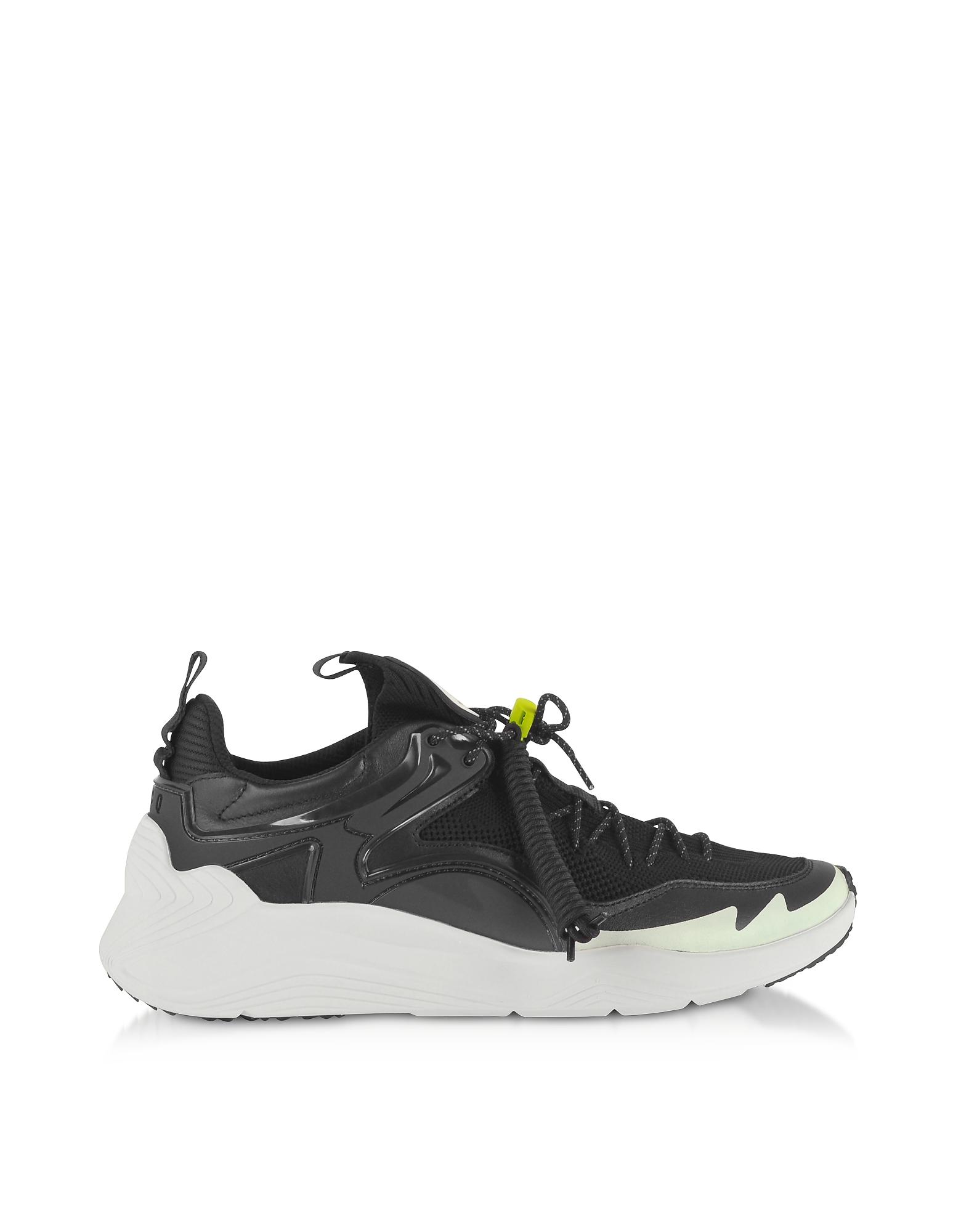 McQ Alexander McQueen Designer Shoes, Ghishiki 2.0 Black Fabric Men's Sneakers