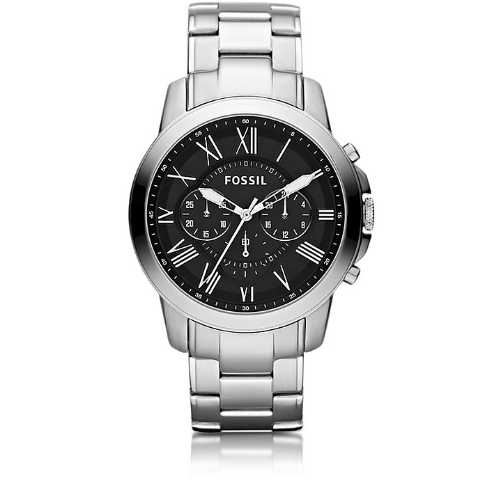 Fossil  Grant Chronograph Silver Stainless Steel Men's Watch