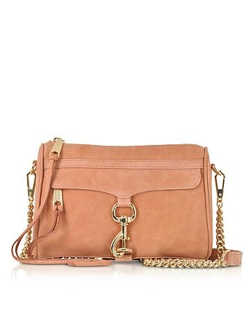 Dusty Peach Leather Mini M.A.C. Crossbody Bag rm130318-047-00
